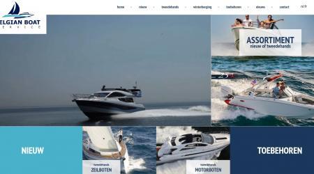 homepage Belgian Boat Service - e2e solutions - drupal - KMOweb+