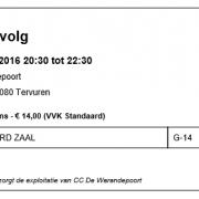 gepersonaliseerd ticket met barcode